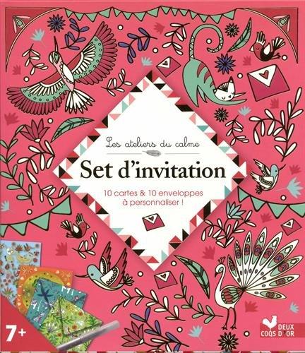 Set d'invitation - boite créative