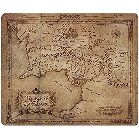 LORD OF THE RING Mousepad Rohan and Gondor map SEÑOR DEL ANILLO mapa Mousepad Rohan y Gondor