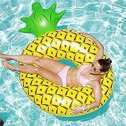 JYY Aufblasbarer Ananas-Schwimmring-Pool-Schwimmer Spaß Strand Schwimmen Party Spielzeug Pool Insel Sommer Pool Floß Lounge Für Erwachsene Kinder