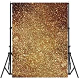 HITSAN 3X5ft Vinyl Golden Glitters Photography Background Backdrop Photo Studio Prop 1PC