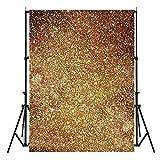 #7: Generic 3X5ft Vinyl Golden Glitters Photography Background Backdrop Photo Studio Prop One piece