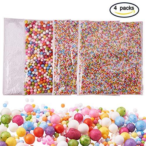 ENCOCO Schaumstoff-Perlen zum Selbermachen von Dekorativen, Fischschalen-Perlen, Glitzergläsern, Scheiben, Perle, Bunte Zucker-Papier-Zubehör, 4 Stück Mardi-gras-zucker