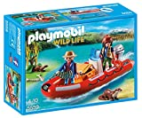 Playmobil 5559 Wildlife Floating Inflatable Boat With Explorers