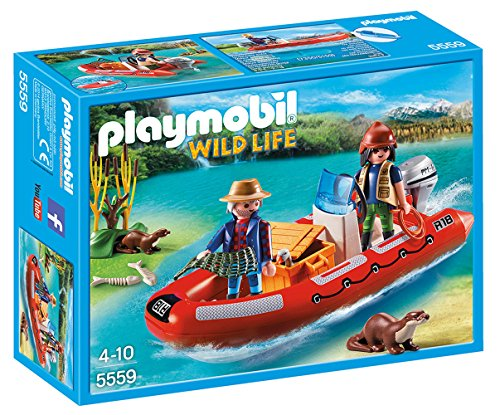 PLAYMOBIL - Bote Hinchable con exploradores 55590