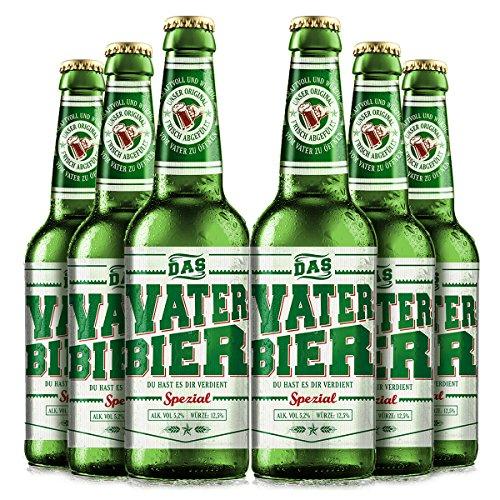 Vaterbier Spezial (6 x 0,33 l), lustiges Biergeschenk für den Vater