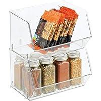 mDesign bac de rangement pour nourriture – bac alimentaire avec grande ouverture pour réfrigérateur, étagère ou…