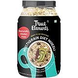 True Elements Diet Muesli 1kg - Gluten Free Muesli, Loaded with Multigrains, Muesli Sugar Free, Cereal for Breakfast, Diet Fo