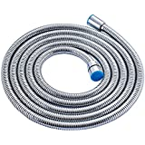 ALTON Chromed Stainless Steel Double-buckle Flexible Shower Hose Handshower Hose Replacement Shower Tube, Health Faucet Tube, Flexible Tube