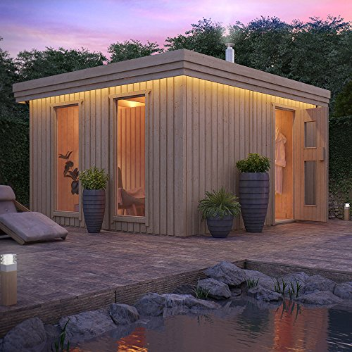 gartensauna von isidor outdoorsauna vapor mit 2 fenster und vorraum sauna luxus. Black Bedroom Furniture Sets. Home Design Ideas