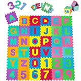 TecTake Manta de juegos alfabeto puzzle alfombra rompecabezas 86 piezas goma espuma EVA