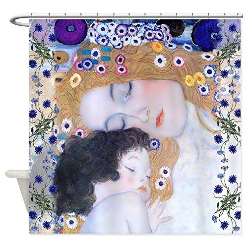CHATAE Klimt madre e bambino Art Deco tenda doccia–Tenda per doccia in tessuto decorativo