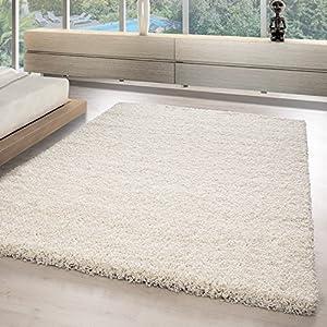 Hochflor Shaggy Teppiche Für Wohnzimmer, Esszimmer, Gästezimmer,  Jugendzimmer, Babyzimmer Mit 3 Cm