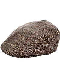 Jaxon & James Hats Tweed Flat Cap - Brown-Grey