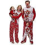 Pijamas Dos Piezas Familiares de Navidad, Conjuntos Navideños de Algodón para Mujeres Hombres Niño Bebé, Ropa para Dormir Oto