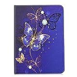 MoreChioce Galaxy Tab S2 9.7 Hülle,Galaxy Tab S2 9.7 Hülle Case, Bunt Lila Schmetterling Leder Schutzhülle Tablet Stand Case für Samsung Galaxy Tab S2 9.7 T810 T813 T815 T819