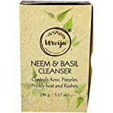 Urvija Neem and Basil Cleanser - Essential oil based Handmade soap - No Sulphates, Anti acne, Anti rash, Improves skin textur