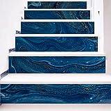 3D Kreative Treppen Aufkleber Dark Blue Corridor Dekoration Aufkleber (100 × 18 cm * 6 Stücke)