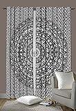 Schlafzimmer-Gardinen, Design Indisches Elefanten-Mandala, Fenstervorhang, Bohemian-Stil, Dekorationsset, ca. 233,7x 208,3cm