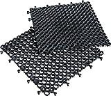 miltex 15030 Bodenmatte Yoga Grid, 50 x 50 cm, VE-4 Platten 1 m², schwarz