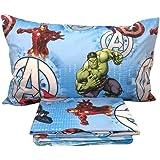 Juego de sábanas para Cama de una Plaza, 100 % algodón, diseño de Los Vengadores