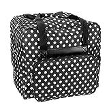 Over-Coverlock Tasche XL schwarz/weiß gepunktet