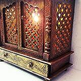 D'Dass Wooden Pooja Mandir with Light Wi...
