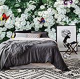 WH-PORP Moderne 3D Fototapete Für Wohnzimmer Garten Blumen 3D Wandmalereien Tv Hintergrund Home Dekorative Tapete 3D Wandmalereien-250cmX175cm