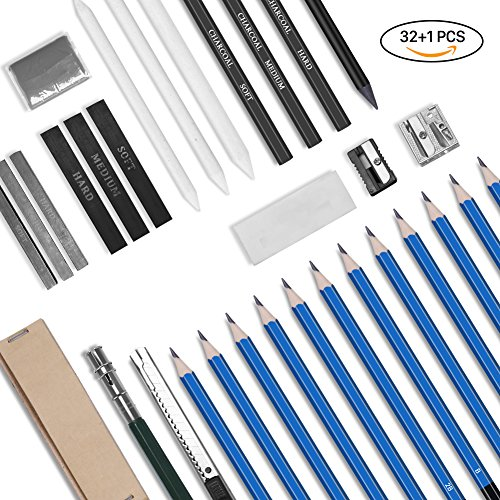 GHB 32PCS Lápices para Bosquejo Lápices de Dibujo del Artista