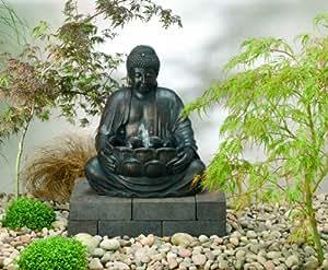 smart solar 29960m01 buddha brunnen aus kunstharz mit. Black Bedroom Furniture Sets. Home Design Ideas
