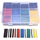 Lukzer Plastic Heat Shrink Tubes Insulated Wire Cable Sleeving Wrap, Multicolour -530 Pieces