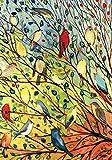 Home Garden Beste Deals - Toland Home Garden Baumvögel, Bunt, 31.75x45.72x0.1 cm