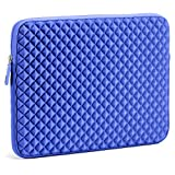 Evecase 13.3 ~ 14 inch Diamond Foam Splash and Shock Resistant Neoprene Sleeve Case Travel Bag for Acer Apple Asus Dell HP Lenovo Samsung Toshiba Laptop Notebook Chromebook Ultrabook - Blue