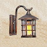 Beautiful Home Decoration Lamps Ombra rustici antichi esterna Lampade da parete in alluminio Applique vetro Cilindro design impermeabile Esterno Sconce giardino terrazza Facciata Veranda Luci Decorati