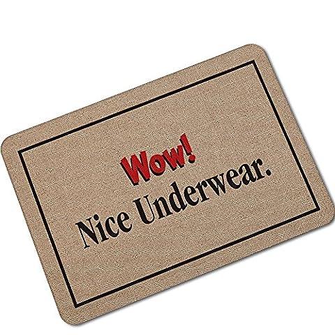 Entrance Floor Mat - Custom Doormat - Wow! Nice Underwear Non-slip Door Mat 40*60 cm