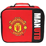 Manchester United FC Childrens/Kids Official Wordmark Insulated Lunch Bag