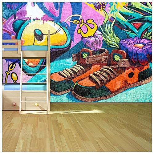 azutura Graffiti Fototapete Turnschuhe Sneakers Tapete Kinderzimmer Dekor Erhältlich in 8 Größen Riesig Digital -