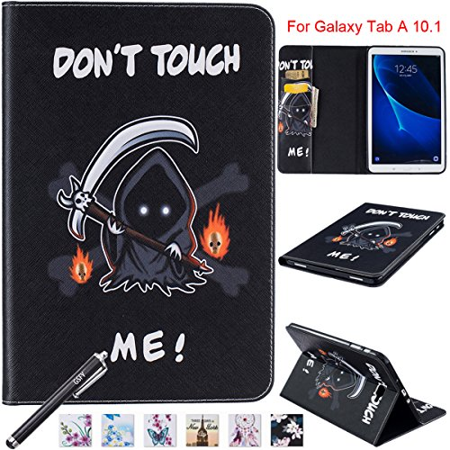 10.1 Fall, newshine Smart Auto Sleep/Wake Portfolio Case Flip Stand Cover für Samsung Galaxy Tab A 25,7 cm Tablet (sm-t580/T585) 2016 Release, 10.1 inch, 7 Death ()