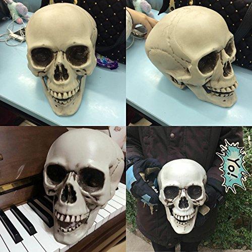 SunBai Halloween decoratingKULOU ghost Häuser, COS-Emulation der Totenkopf Requisiten Lassen Skelett Modell Ornamente und Eier in der Größe der - Ghost Eier Halloween