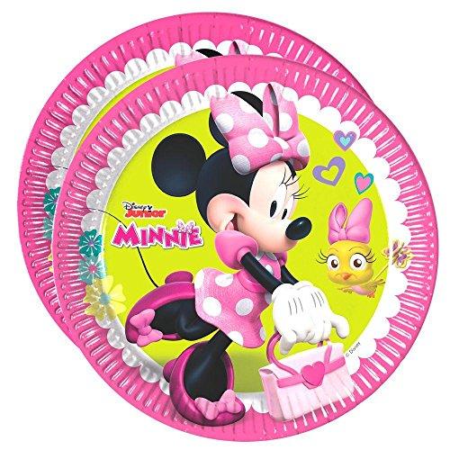 Procos Party-Teller Mouse | 23 cm | 8 Stück | Disney Minnie Maus | Kinder Geburtstag