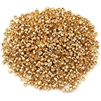 1000X Remaches Tachuelas Cobre Color Dorado para Bolso Ropa 2.5mm