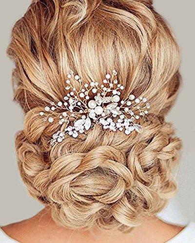Simsly fermagli per capelli da sposa accessori per capelli con cristalli per sposa e damigelle donore