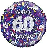 Oaktree UK Zum 60. Geburtstag, Luftballons, Luftschlangen, Holographisches Muster
