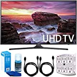 Samsung UN40MU6290 6-Series Flat 39.9'' LED 4K UHD Smart TV W/Accessory Bundle Includes TV, 6ft High Speed HDMI Cable X 2, Universal Screen Cleaner, And SurgePro 6 NT 750 Joule 6-Outlet Surge Adapter