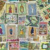 Briefmarkensammlung Algerien, abgestempelte Marken, verschiedene Motive, 100 Stück