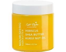 Earth Rhythm Kukui Nut, Shea Butter & Hibiscus Hair Butter, For Straight fine Hair - 100 GM