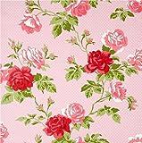 Whitewell Interiors BOUTIQUE LUXUS Wandbekleidungen Tapete Blumenstrauß Motiv Antik pink 550633 - komplette Rolle