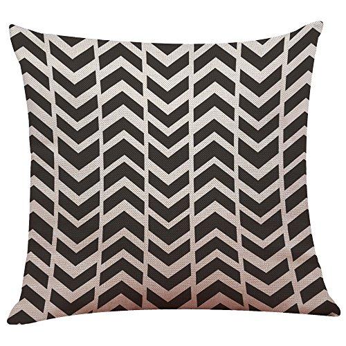 Andouy federa per cuscino bianca e nera con motivo geometrico per cuscino da letto, soft fodere per cuscini per divano divano letto federa cuscino decorativo per la casa 45x45cm, divano, arredamento