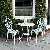 Salon de jardin mobilier de jardin bistrot 2 chaises 1 table en fonte d 39 - Salon de jardin style bistrot ...