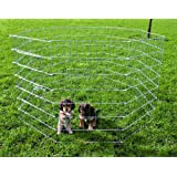 Cerramiento cachorros galvaniz, 8 paneles 61x91 cm
