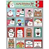 JYCRA niedliche Mini-Grußkarten, 128 Stück Weihnachtskarten mit Umschlägen, beste Geschenkkarten für Kinder, Familien, Freunde, Kollegen.